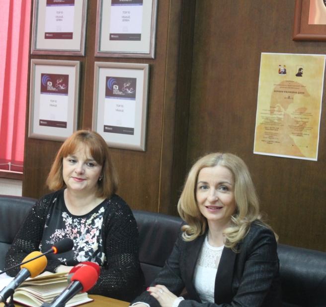 Vesna Petric i Zorica Jović. Foto Grad Vranje