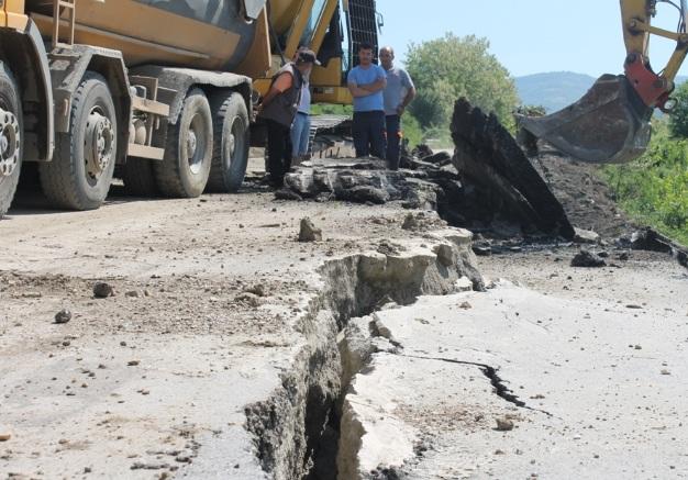 Sanacija klizišta na regionalnom putu Vranje - Vranjska banja. Foto Grad Vranje