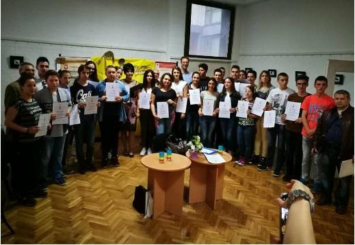 Nagrađeni učenici. Foto Grad Vranje
