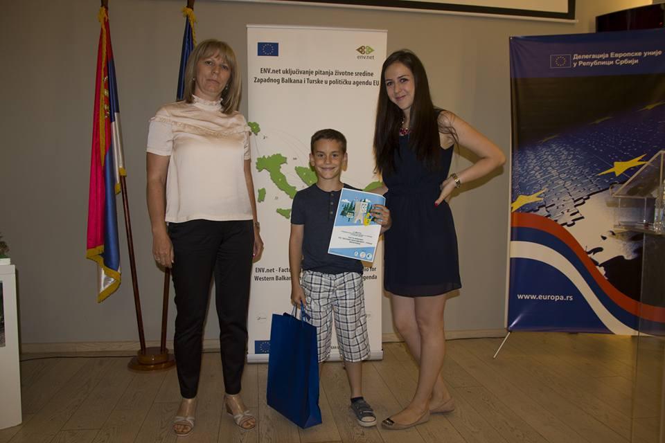 Milijan Jovanović iz vranjske Šeste škole, treći na konkursu. Foto Fejsbuk