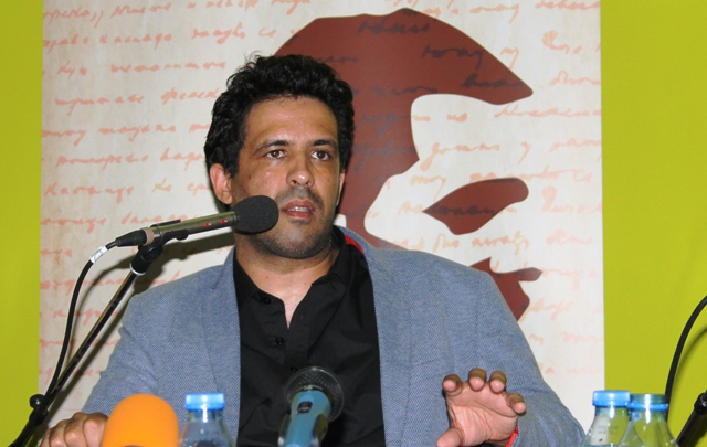 Jedan od najtalentovanijih portugalskih pisaca na promociji u Vranju: Bruno Viejra Amaral. Foto VranjeNews