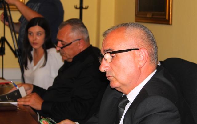 Direktor Inspektorata rada Stevan Đurović na skupu u Vranju. Foto VranjeNews