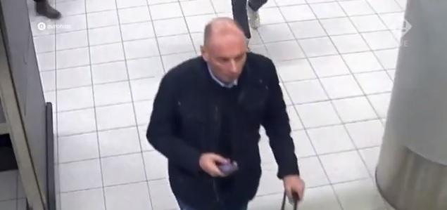 Goran Tasić Gokče sat vremena pre ubistva na aerodromu u Amsterdamu. Foto youtube screenshot