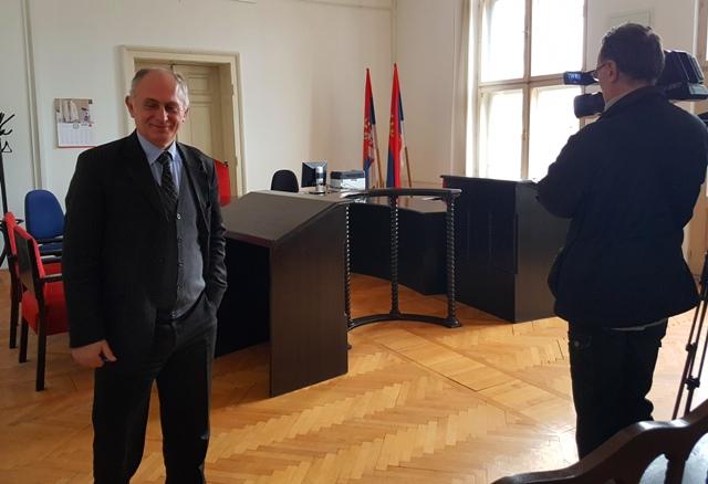 Stanković u sudnici Osnovnog suda. Foto D. Dimić, VranjeNews