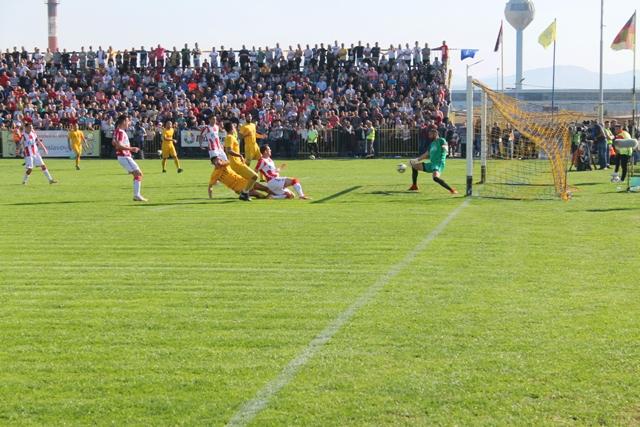 Prvi gol Zvezde, strelac Stojiljković. Foto VranjeNews