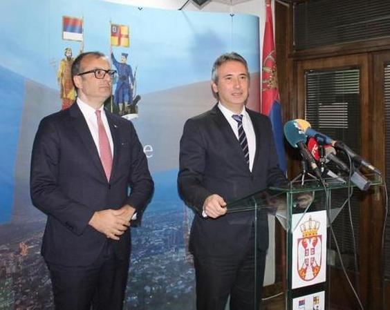 Sem Fabrici i Slobodan Milenković prilikom jednog od ranijih susreta u Vranju. Foto Grad Vranje