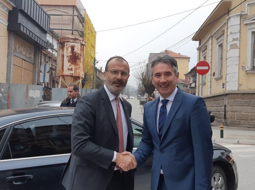 Sem Fabrici i Slobodan Milenković. Foto Grad Vranje