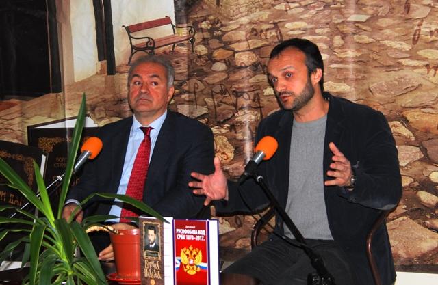 Milo Lompar i Dejan Mirović. Foto VranjeNews