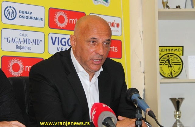 Presrećan zbog prve superligaške pobede Dinama u Vranju: Dragan Antić. Foto Vranje News