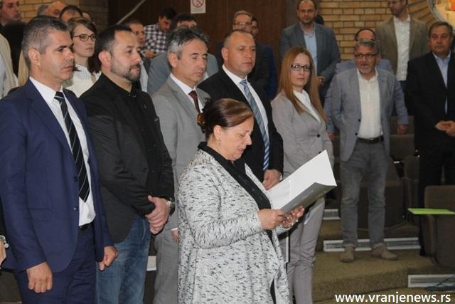 Kadrijvićeva polaže odborničku zakletvu. Foto VranjeNews