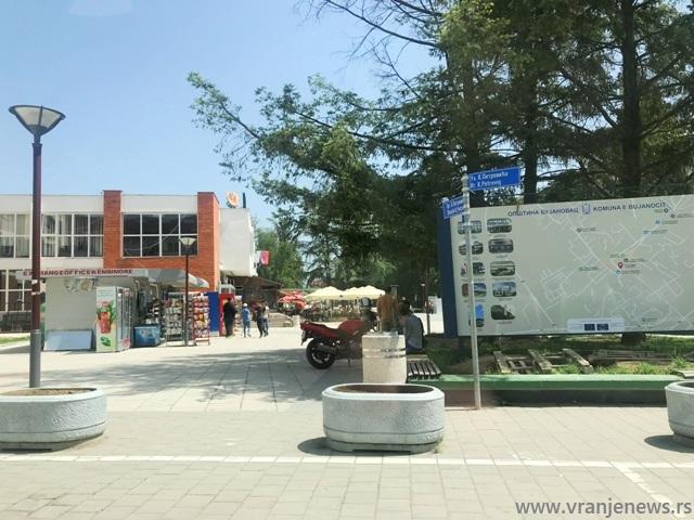 Mapa grada u centru Bujanovca. Foto VranjeNews
