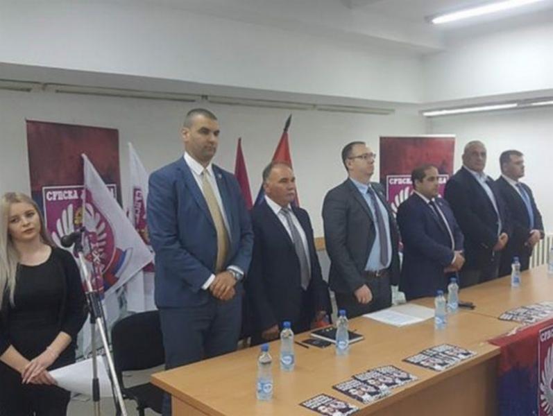 Miša Vacić na osnivanju odbora Srpske desnice u Bujanovcu. Foto Bujanovačke