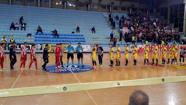 Detalj sa sinoćnje utakmice. Foto KMF Vranje