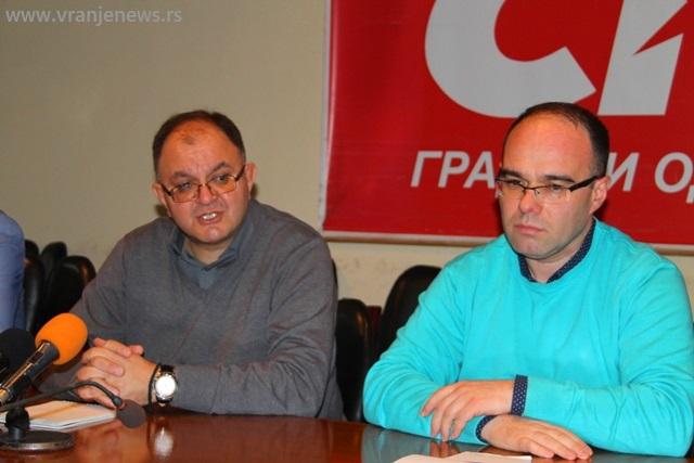 Zoran Antić i Branimir Stojančić. Foto VranjeNews