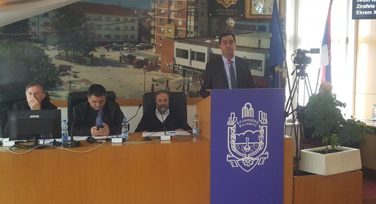 Nenad Mitrović na sednici skupštine Bujanovca. Foto Bujanovačke