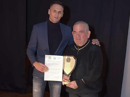 Dragan Milošević Buca na prijemu nagrade za životno delo u oblasti sporta. Foto studio