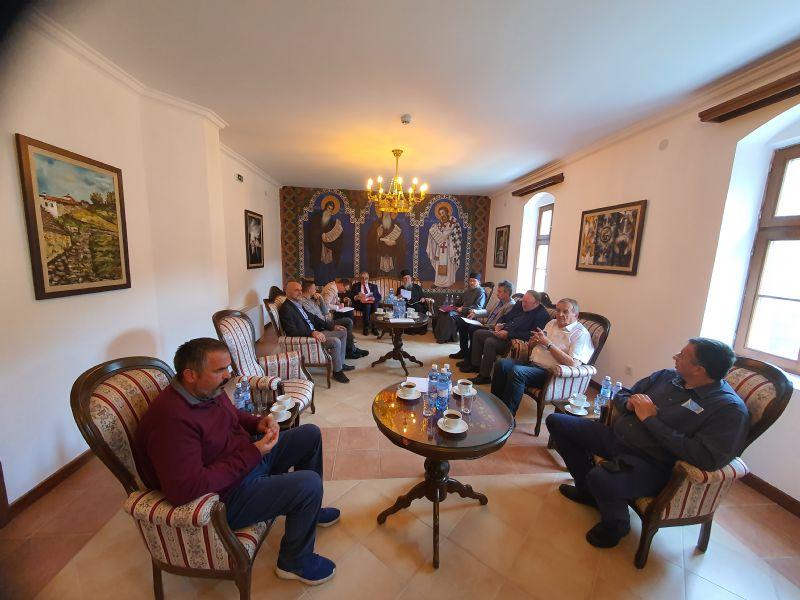 Sednica IO za proslavu jubileja održana u nedelju u Kraljevom konaku Manastira Prohor Pčinjski. Foto Eparhija vranjska