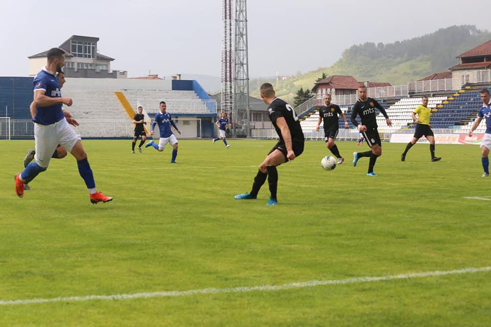 Detalj sa današnjeg meča. Foto Fejsbuk stranica FK Novi Pazar