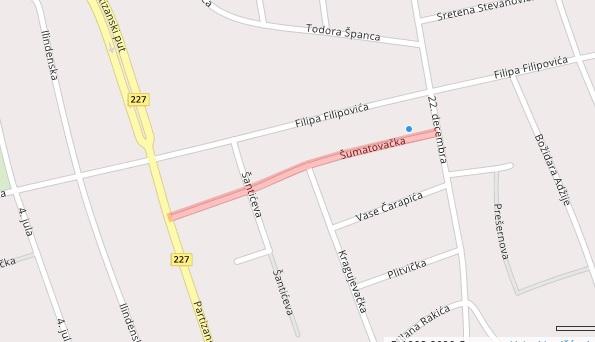 Ulica Šumatovačka. Foto printscreen panplus.rs