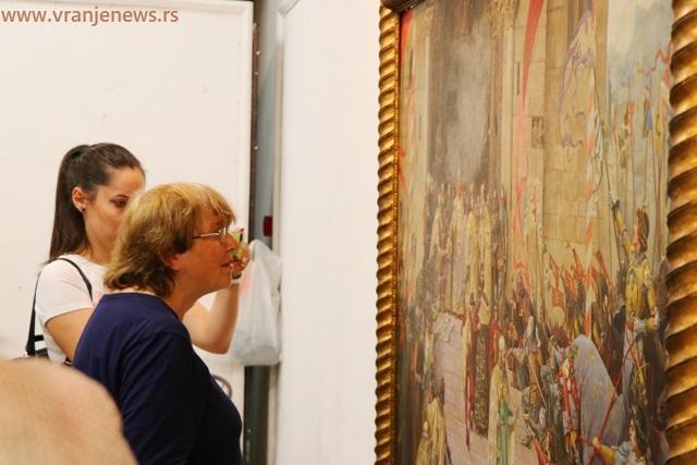 Detalj sa otvaranja izložbe Paje Jovanovića 2019. Foto Vranje News