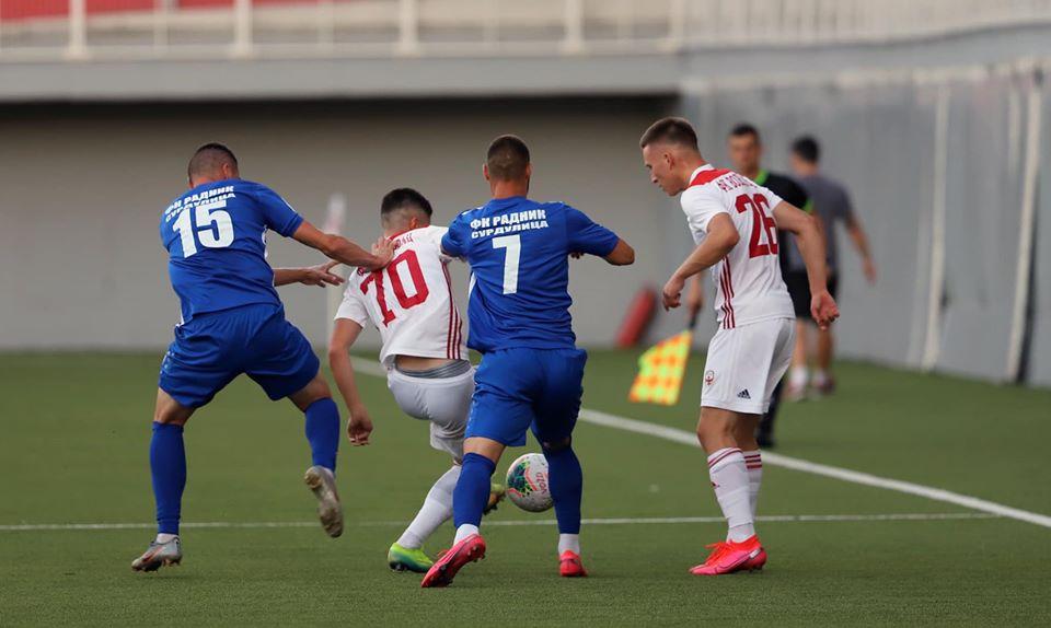 Detalj sa današnje utakmice. Foto FK Voždovac