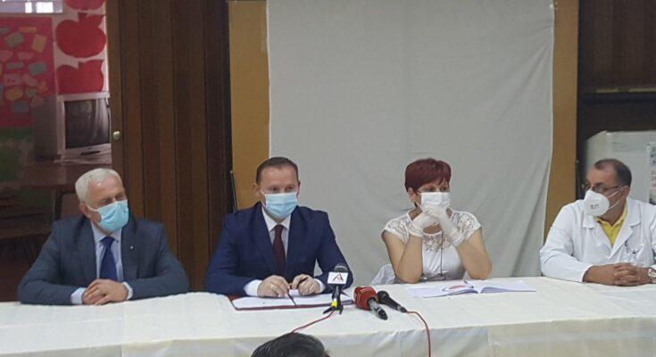 Armend Zemaj u Domu zdravlja u Bujanovcu. Foto Bujanovačke