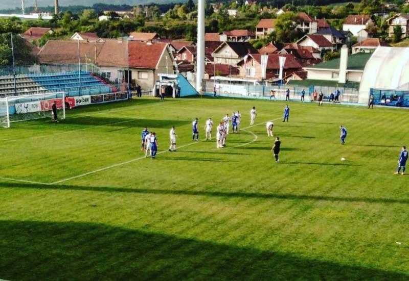 Beg sa začelja tabele za Surduličane: detalj sa današnje utakmice. Foto FK Radnik