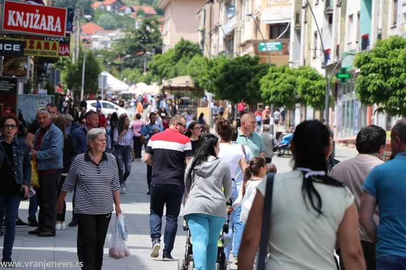 Centralna šetališna zona u Vranju. Foto ilustracija Vranje News