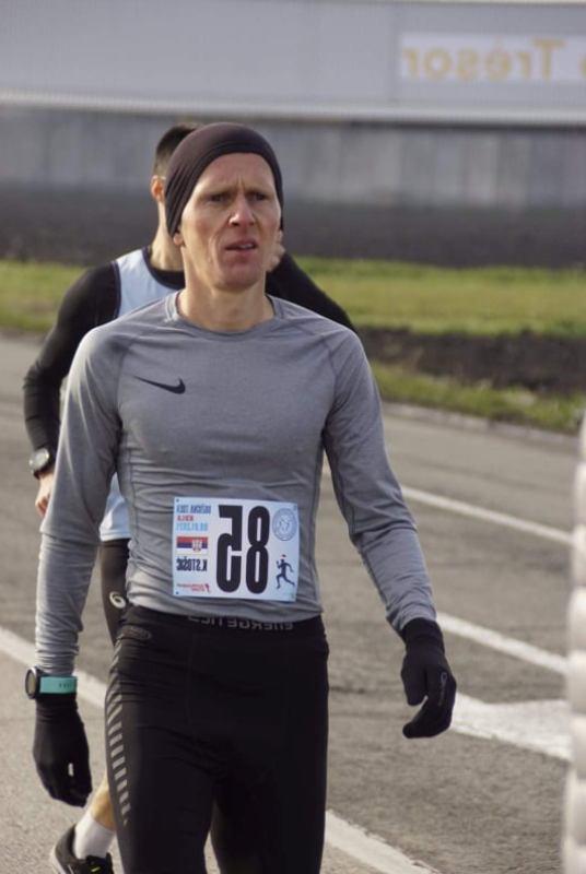 Kristijan Stošić na trci u Kuli. Foto AK Vranjski maratonci