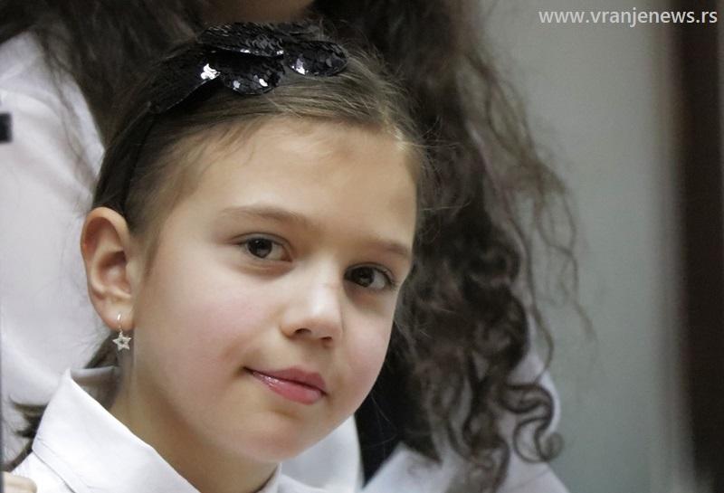 Najbolja u kategoriji od 1. do 4. razreda: Jana Dimić. Foto Vranje News