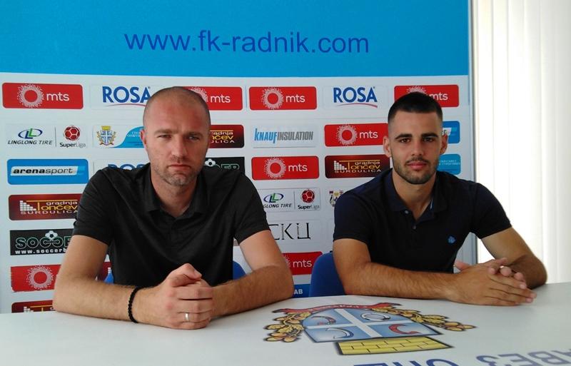 Trener Bondžulić (levo) i kapiten Uroš Stojanović. Foto FK Radnik