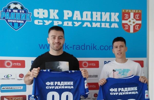 Dimitrov (levo) i Vesić. Foto FK Radnik
