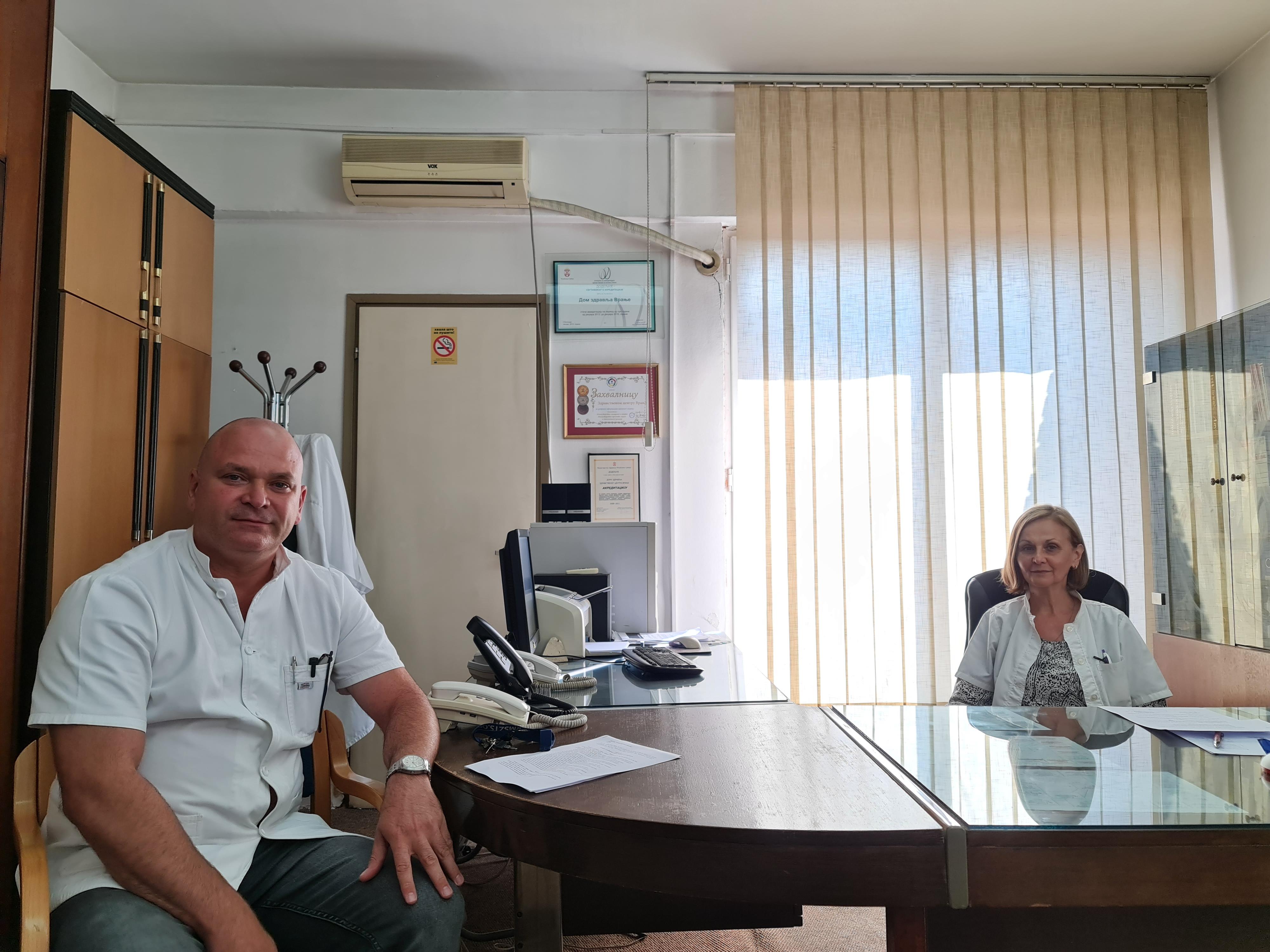 MIlica Jaziković i Miša Veličković. Foto ZC Vranje
