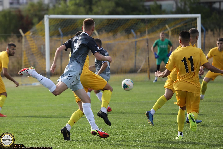 Rezultat meča je u senku bacio težak prelom noge fudbalera Dinama NIkole Savića kod rezultata 0:0. Foto FK Trajal
