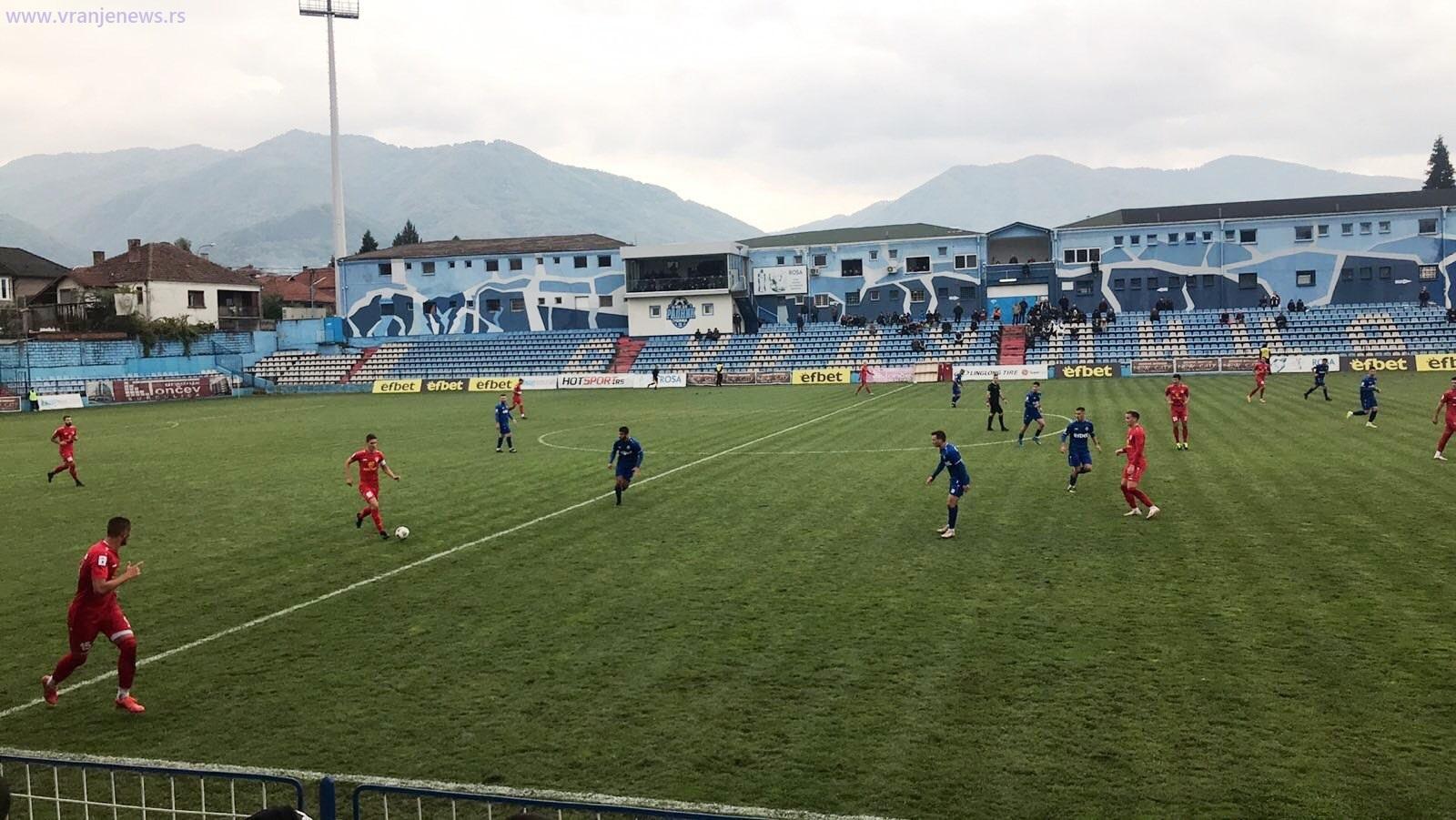 Detalj sa današnje utakmice u Surdulici. Foto Vranje News