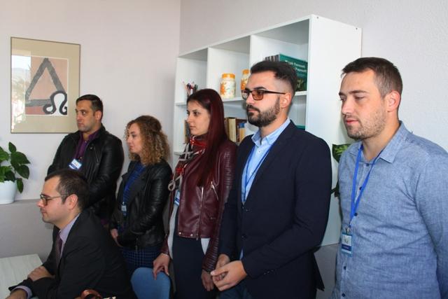 Darko Anačkov sa najbližim saradnicima iz BSC-a. Foto VranjeNews