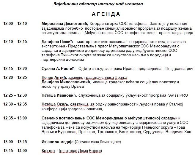 Agenda. Foto printscreen
