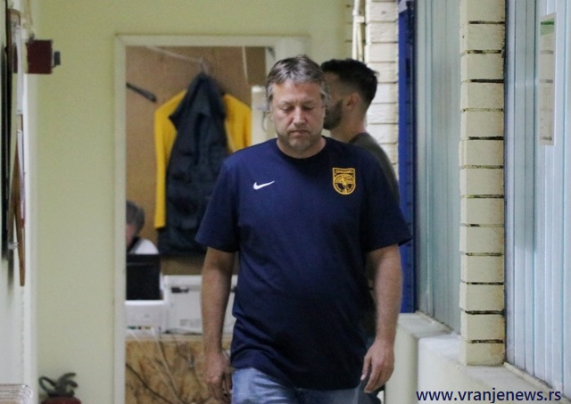 Žuti, pa crveni za stratega Dinama: Uroš Kalinić. Foto VranjeNews