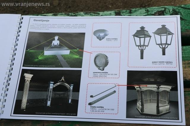 Deo projektom zamišljene rasvete. Foto VranjeNews