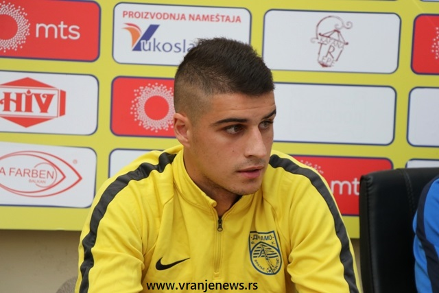 Okončati krizu rezultata: Filip Stamenković. Foto VranjeNews