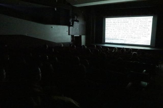 Publika uživala u filmovima prve večeri. Foto VranjeNews