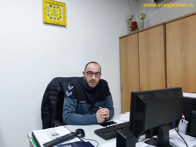 Cilj je da budemo među pet najboljih: Miloš Stevanović, sekretar kluba. Foto Vranje News