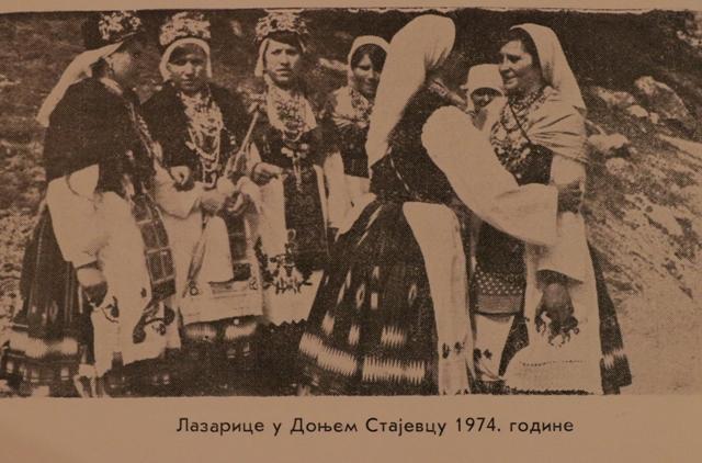 Lazarice u Donjem Stajevcu 1974. godine. Foto izvor