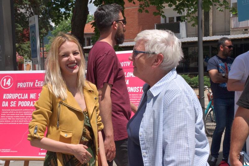 Poslanički kandidat iz Vranja Draginja Anđelković. Foto Vranje News