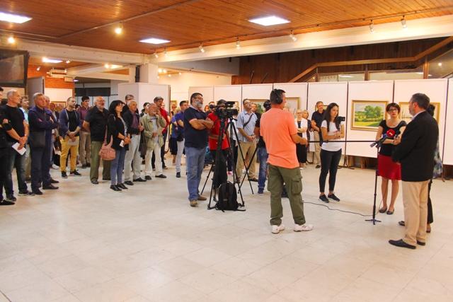 Sa otvaranja izložbe Save Šumanovića 2018. godine. Foto Vranje News