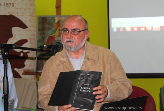 Srđan Tomić u januaru 2019. godine na obeležavanju 35 godina svog stvaralaštva. Foto Vranje News
