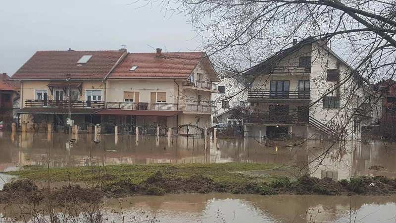 Poplavljene kuće: prizor iz Bujanovačke Banje. Foto Bujanovačke