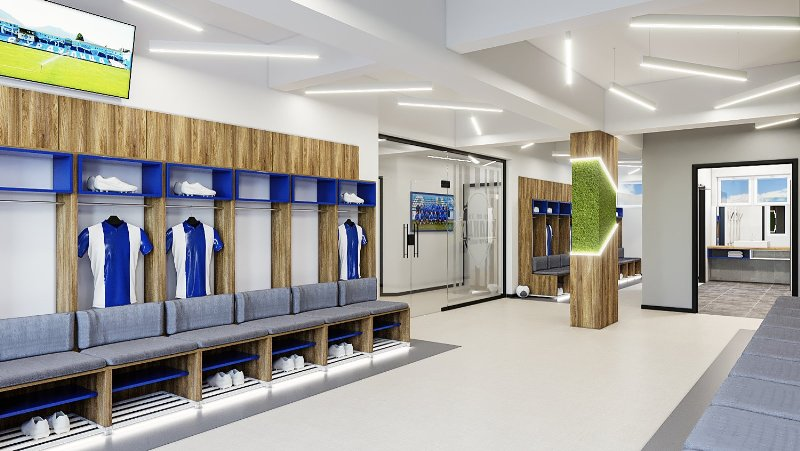 Klub ulaže u stvaranje boljih uslova za fudbalere: nove svlačionice na Gradskom stadionu u Surdulici. Foto FK Radnik