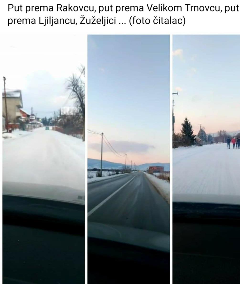 Iz NS fotografijom ilustrovali stanje sa putevima u opštini. Foto printscreen Narodna stranka Bujanovca