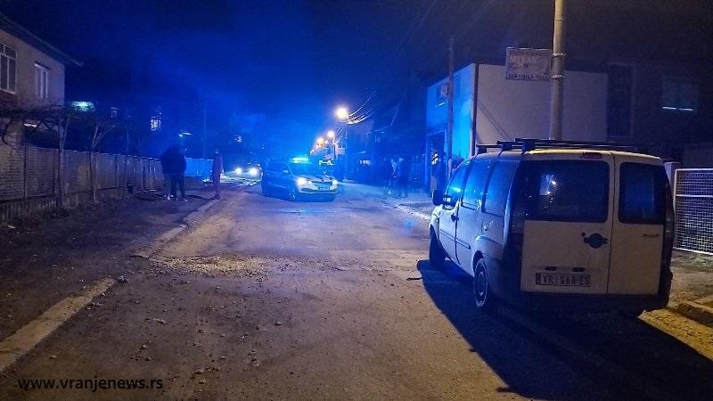 Ulica Ive Andrića pod opsadom.. Foto Vranje News